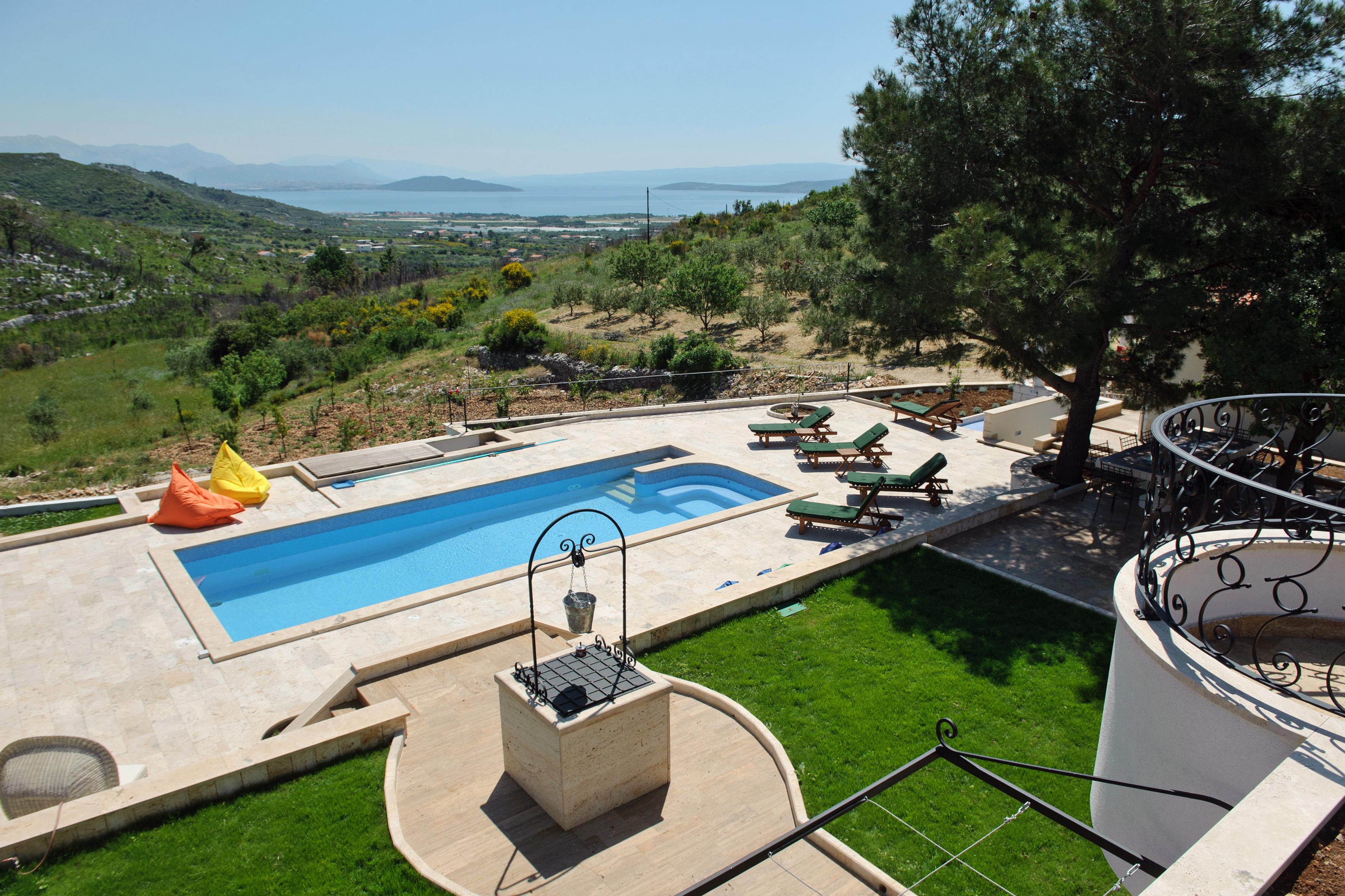 Pool area of Luxury Villa Emerald Olive