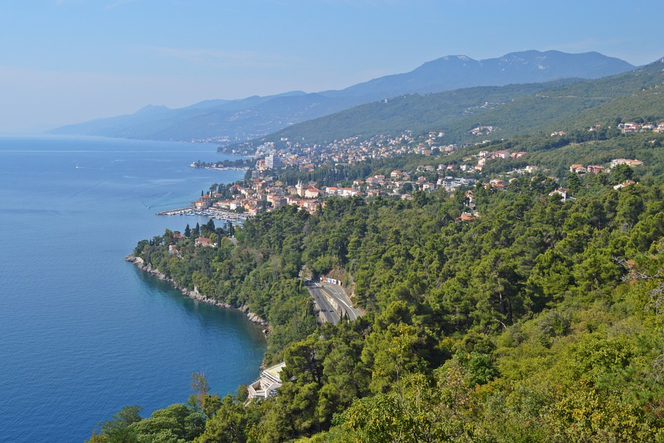 Opatija from the air