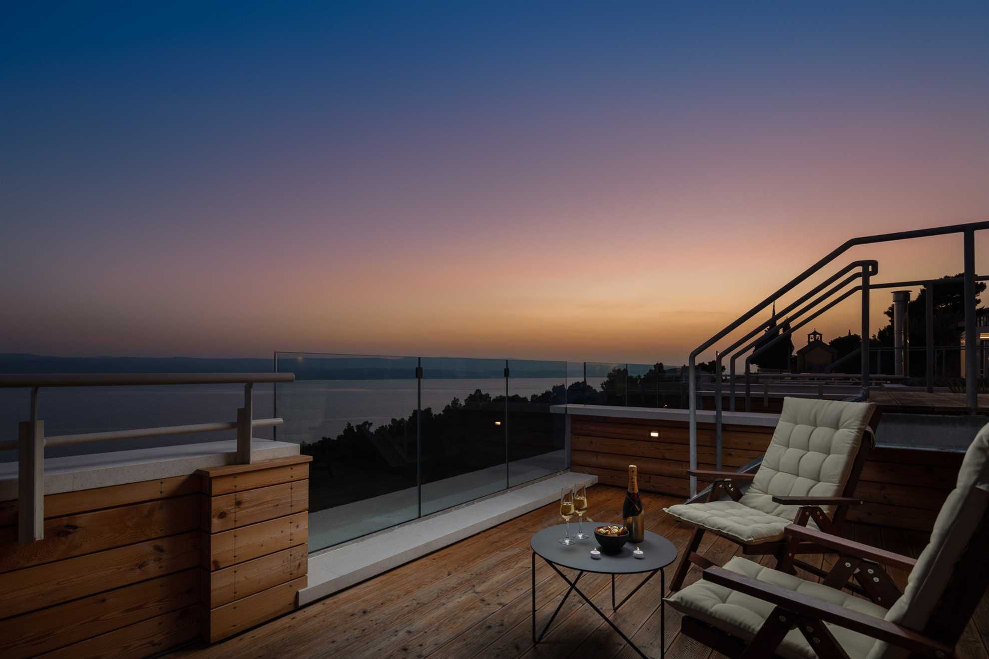 Roof terrace of Carpe Omnia Villas Complex Omis
