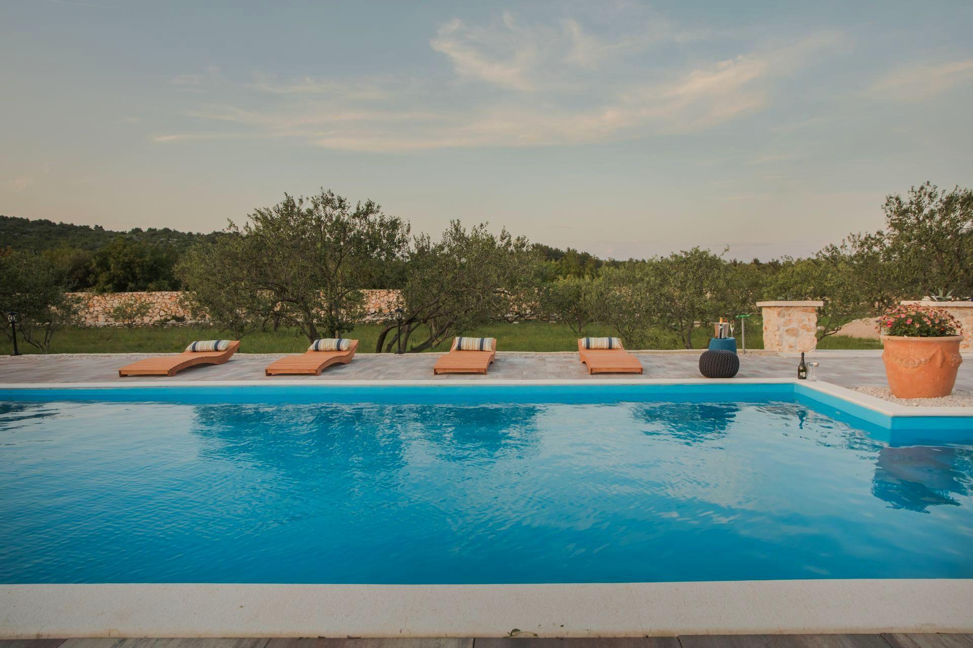 Pool area, Villa Red Hacienda
