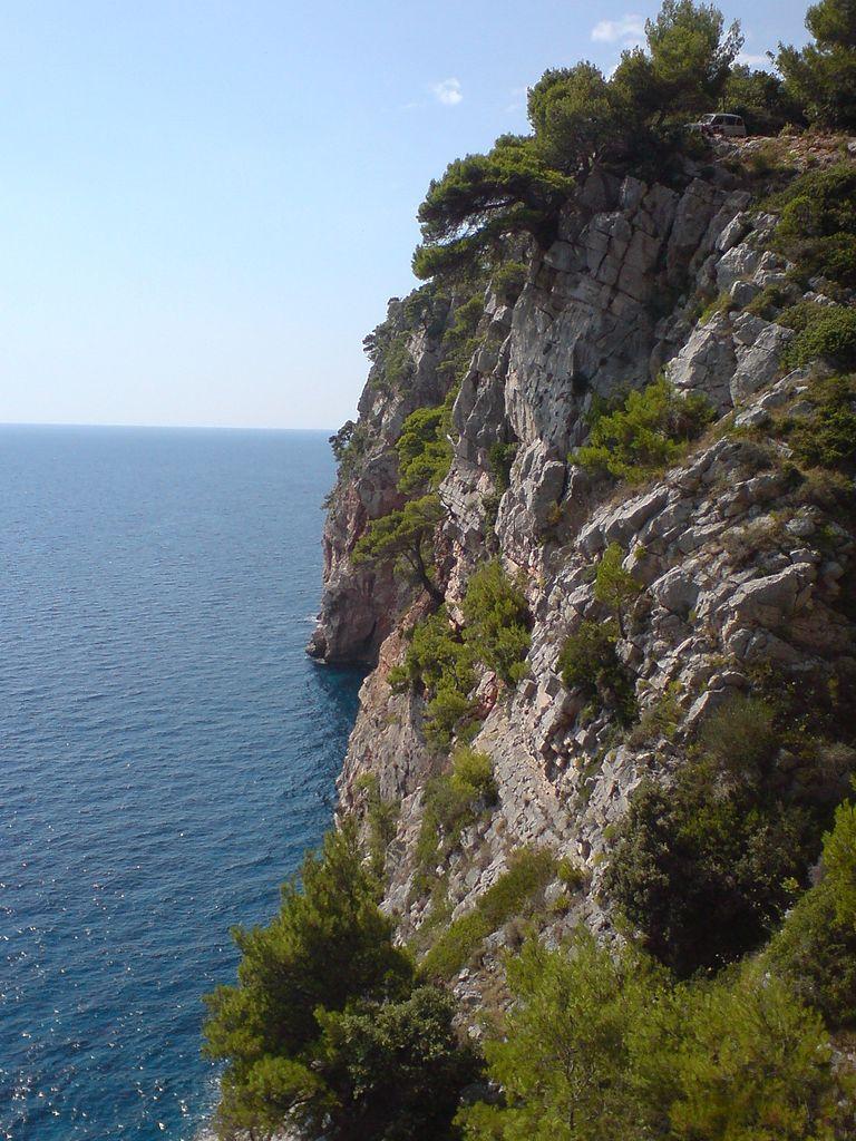 Pasjaca beach cliffs, Dubrovnik area
