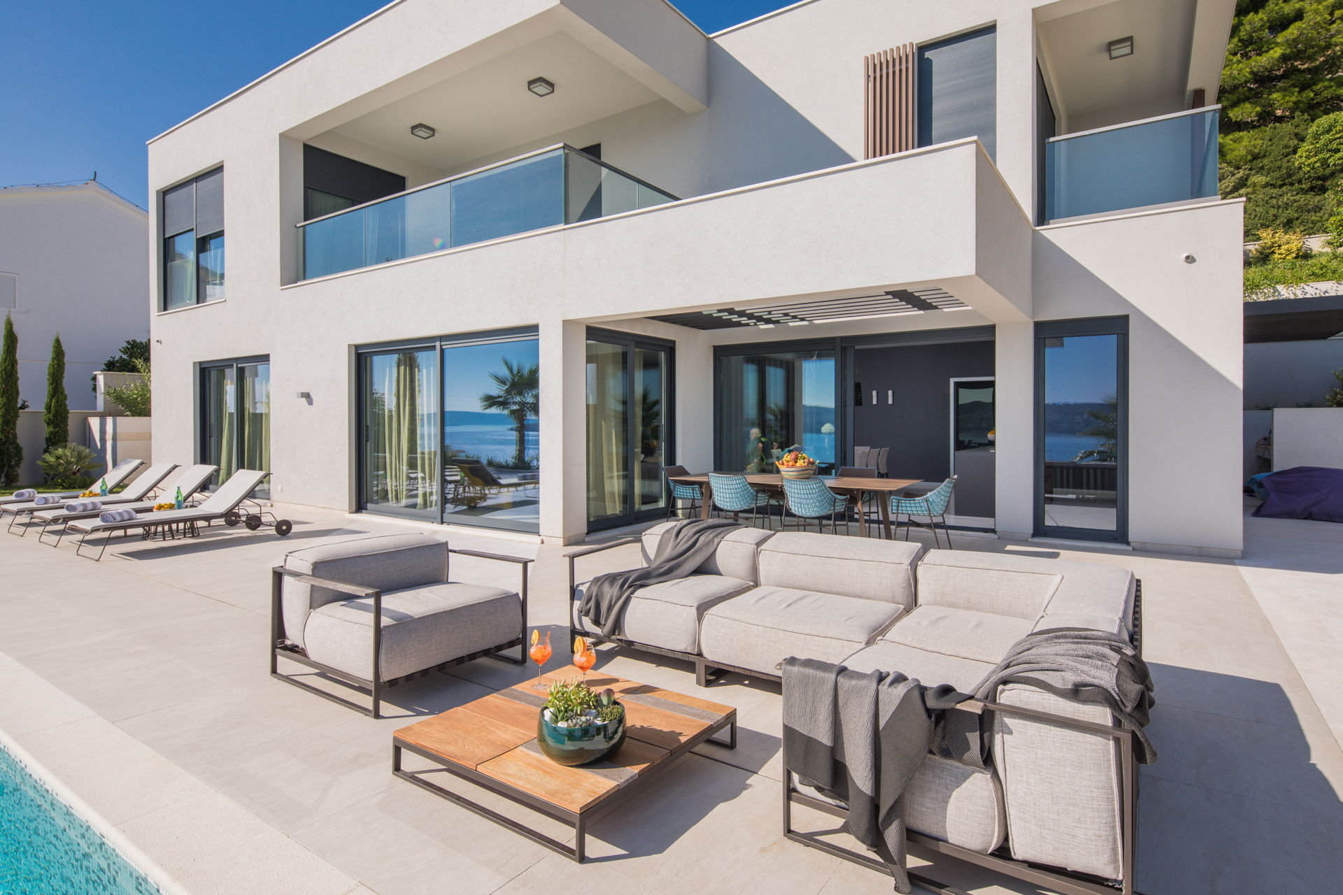 Ultraluxury Villa Elyzeum with heated pool near Trogir Croatia