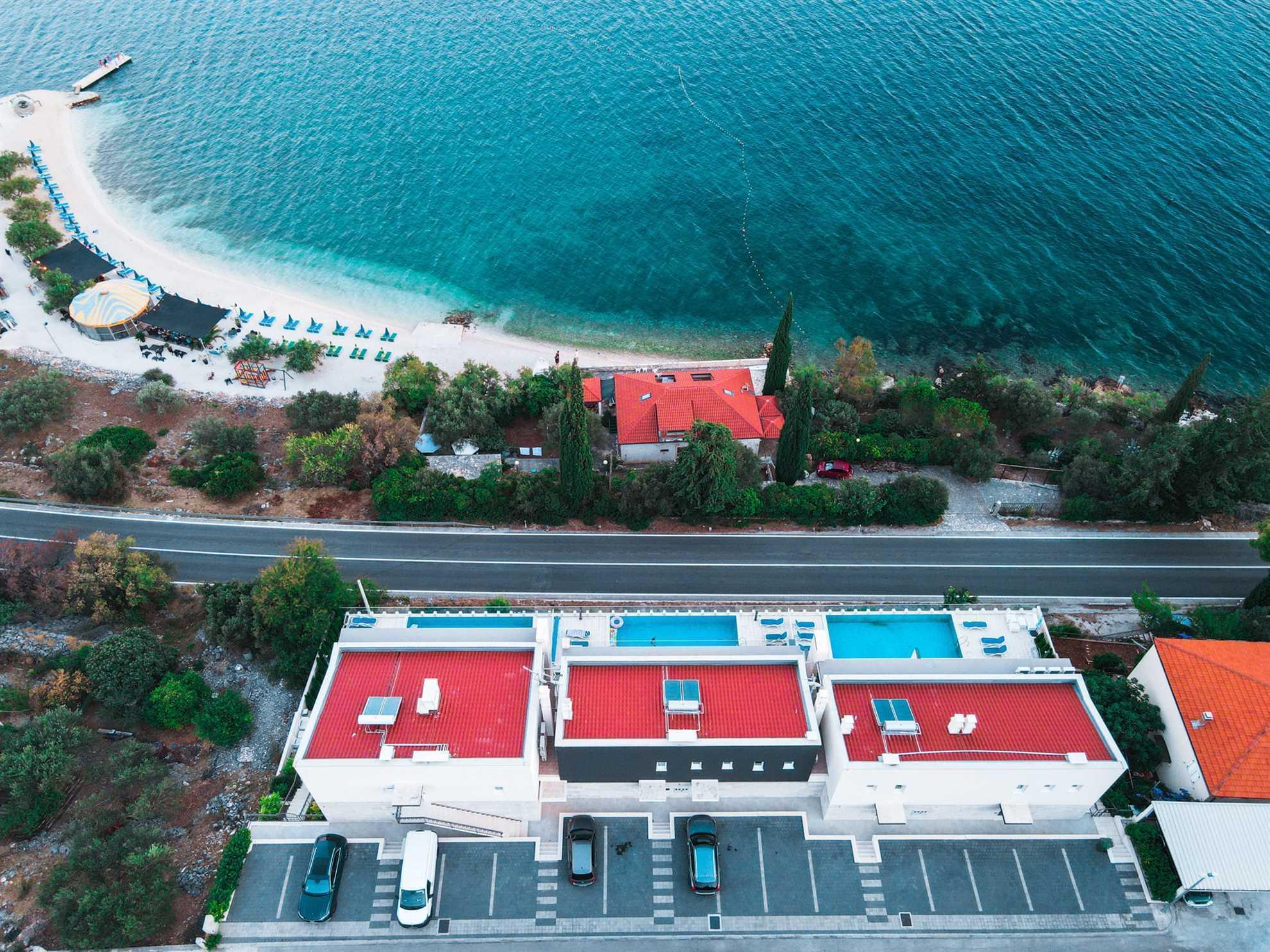 Ocean View Complex Trogir with the beach