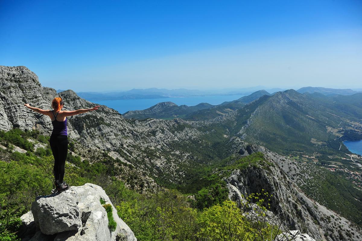 Vandring i Kroatia med havutsikt
