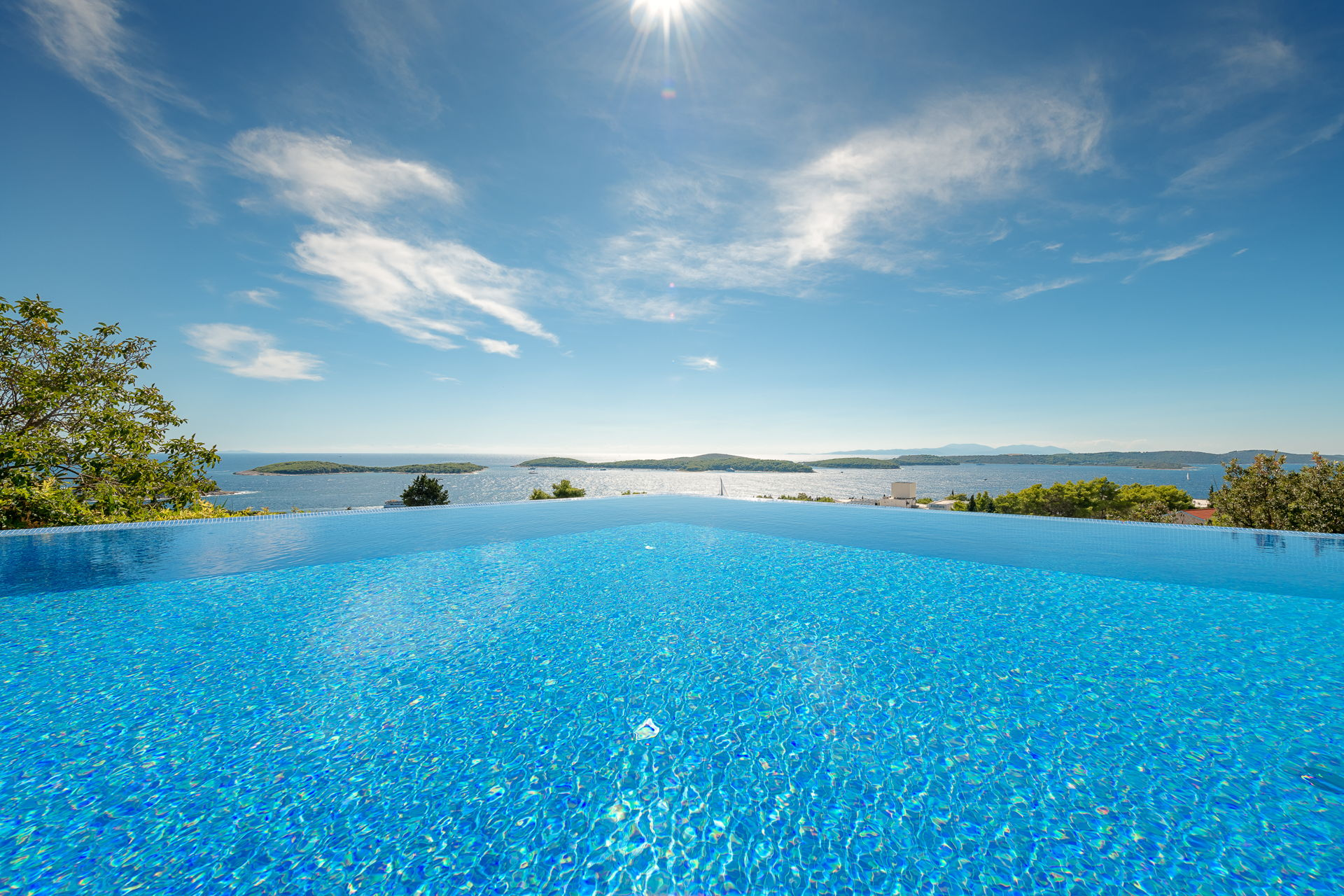 Amazing view from the Infinity Pool of Princess of Hvar Villa