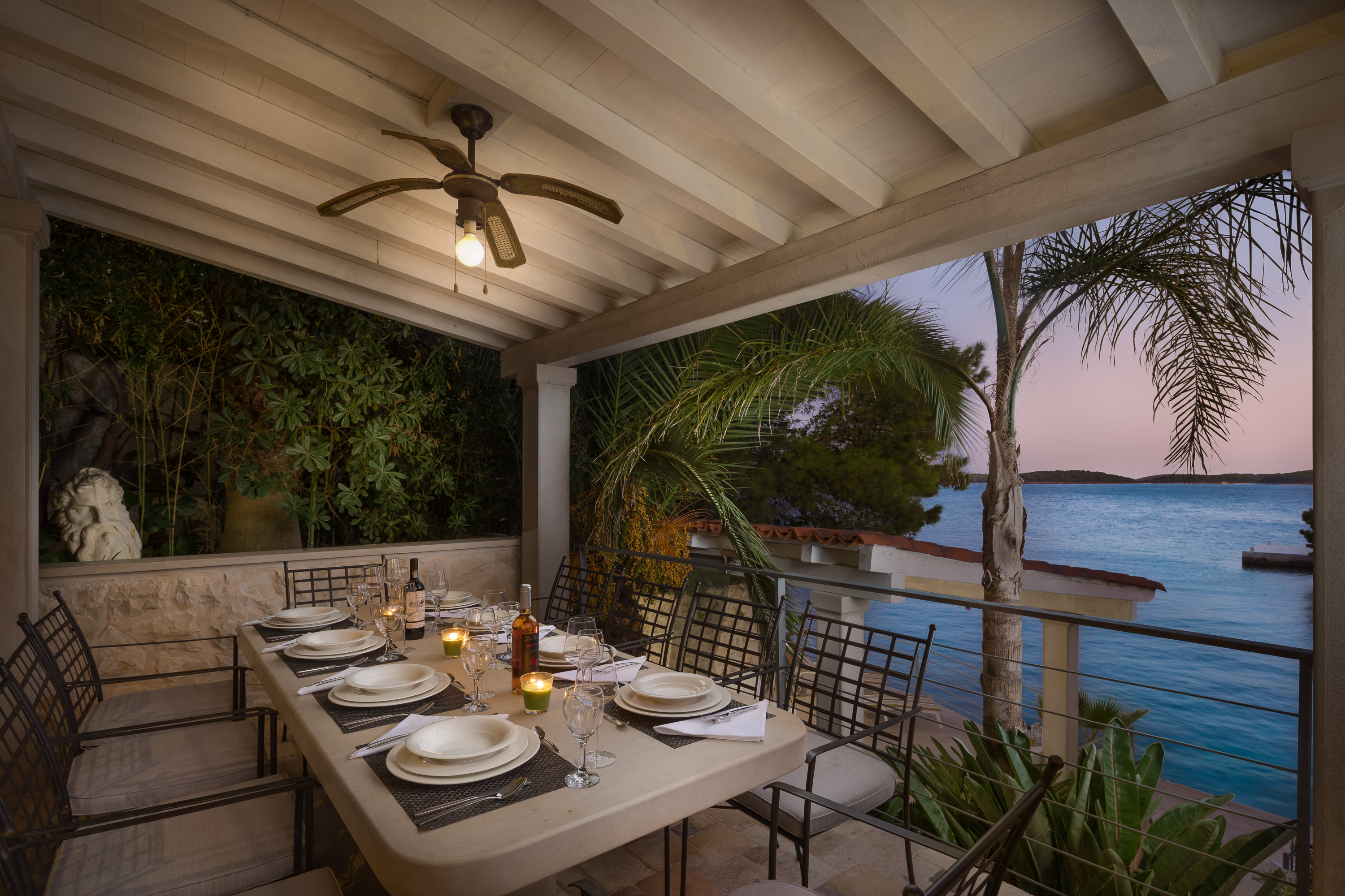 Outdoor dining area of Villa Pure Life