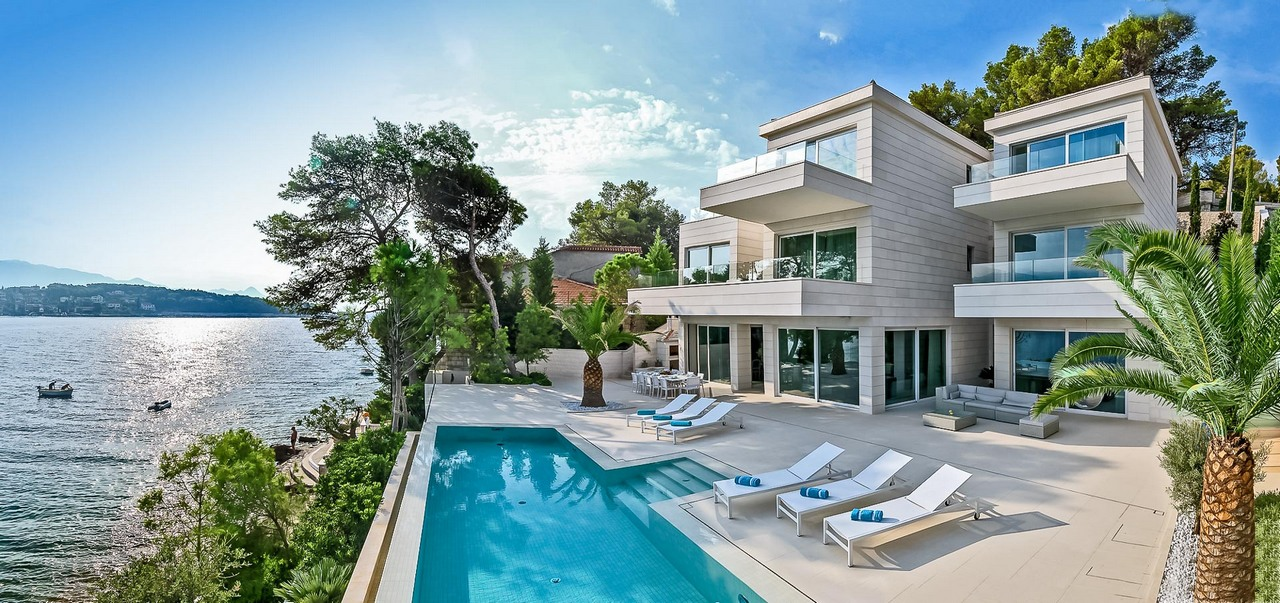 Beachfront luxury Villa Seven Sins with pool on Brac Island, Croatia