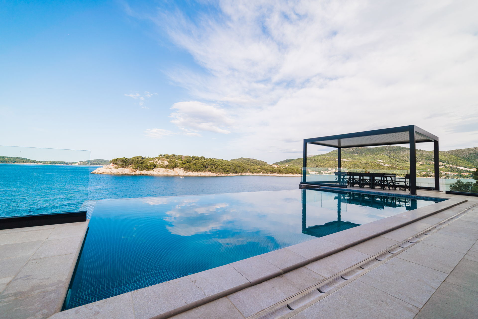Beautiful view from the Pool of Grand Oceania Villa in Dubrovnik