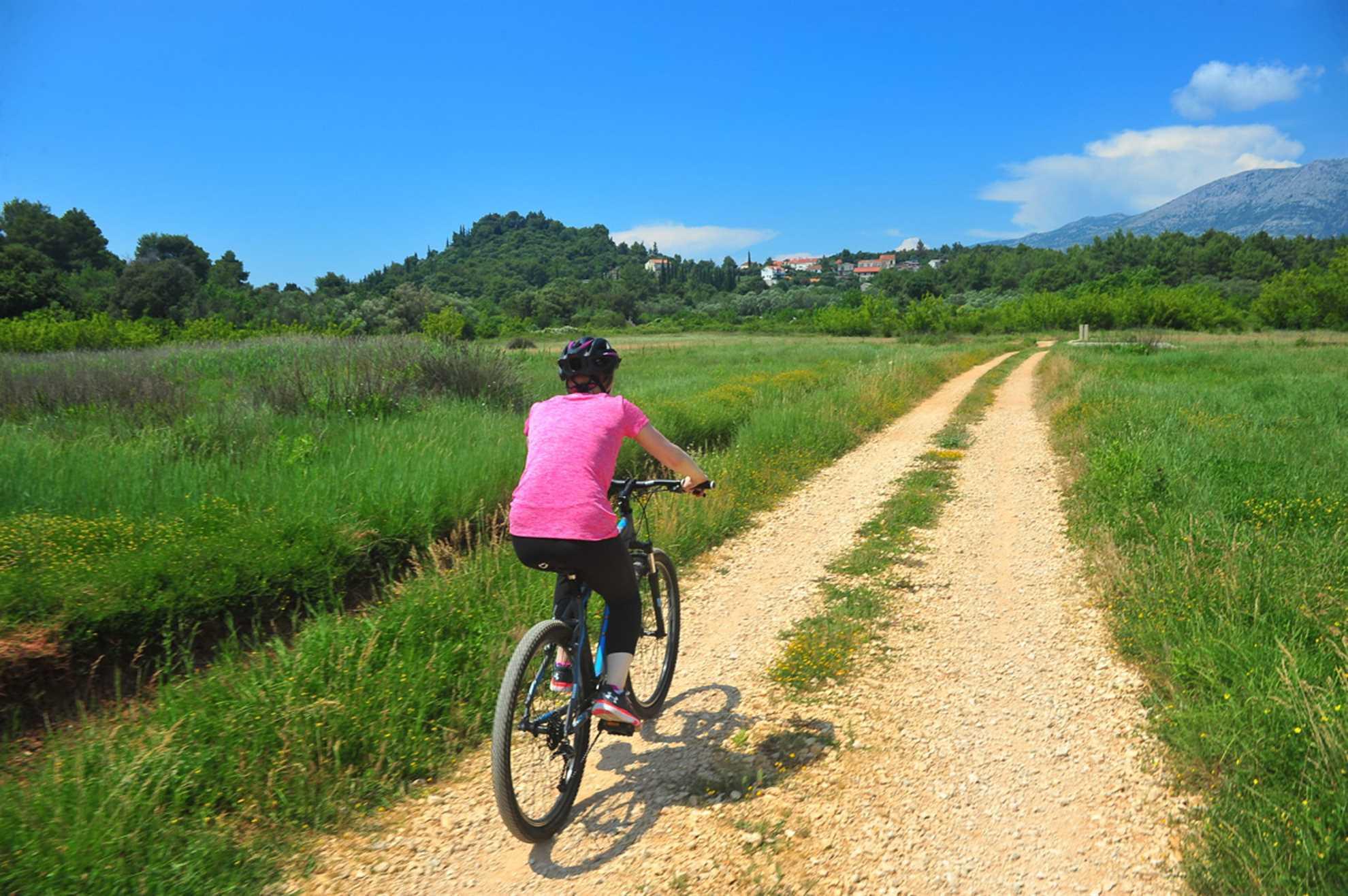Riding a bike in Croatia