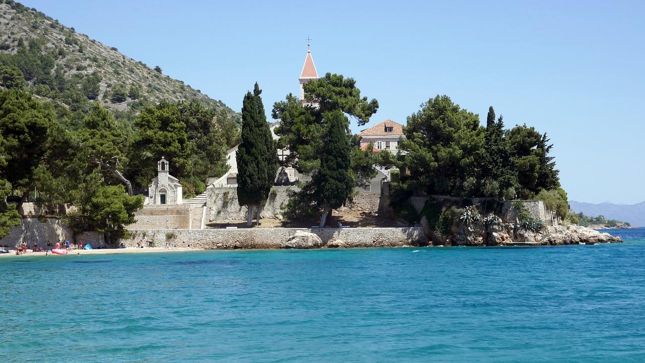 Bol Monastery and the beach
