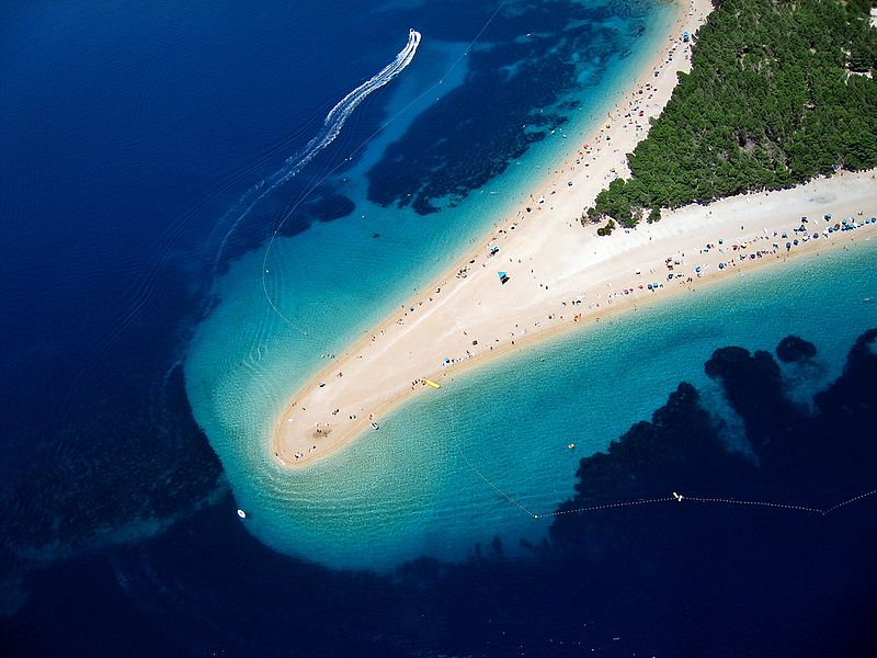 Golden Cape beach in Bol, on Brač island