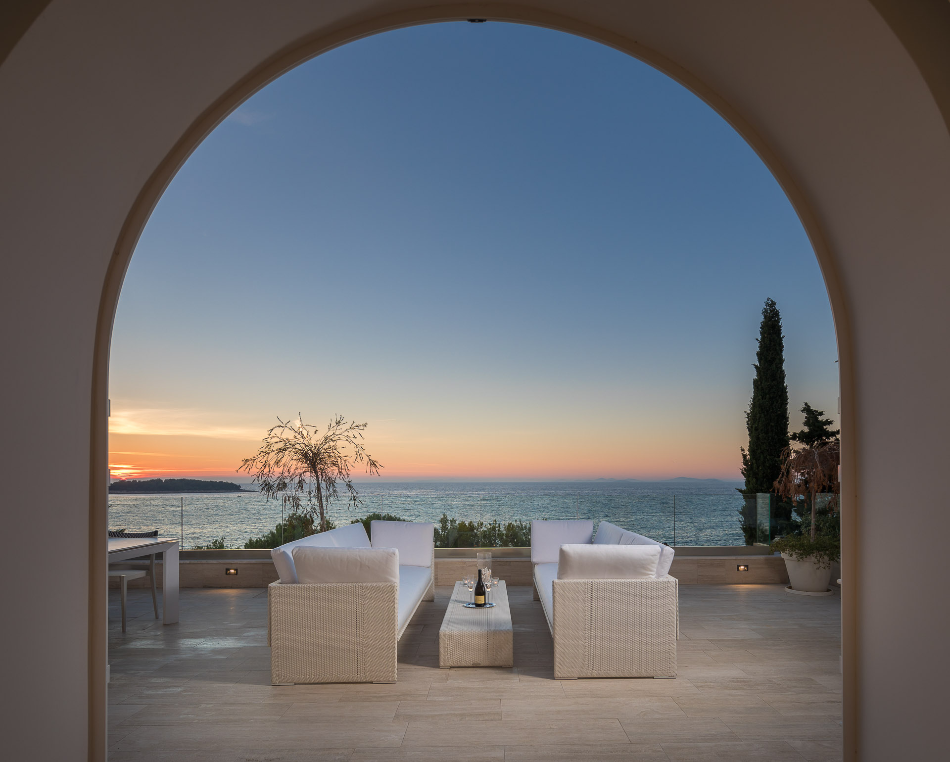 Sunset View from the Luxury Villa Dance Forever in Primosten - Luxury Villas For Rent in Croatia