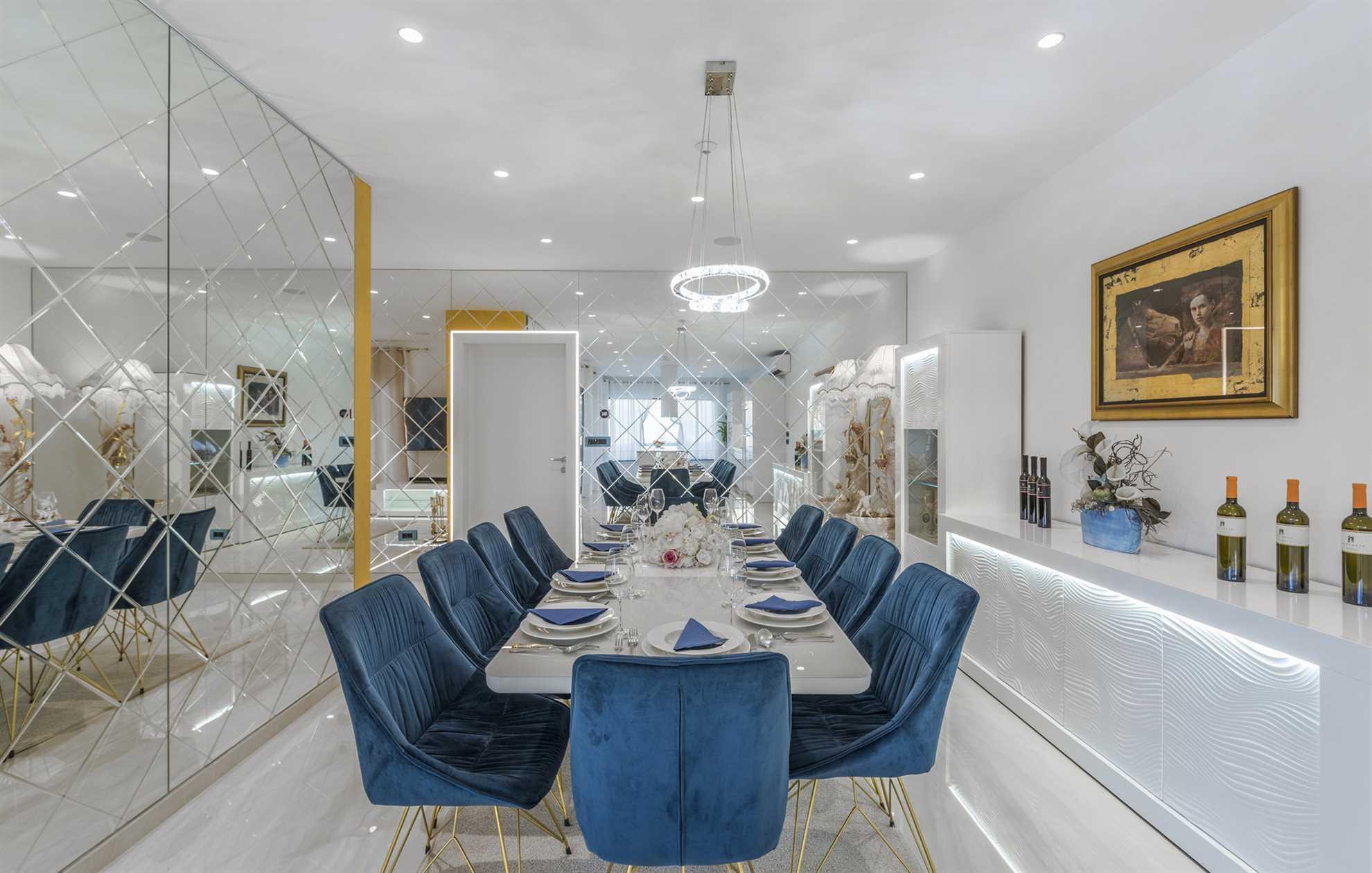 Dining Saloon in Luxury Villa Aurum with pool - luxurious villa rental in Croatia