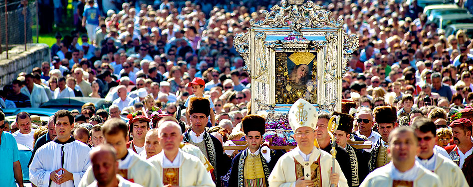 Feast of Assumption in Sinj Croatia