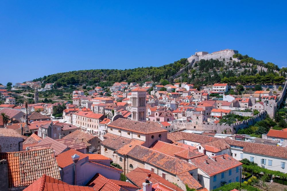 Stunning view of Hvar and Fortica Fortress