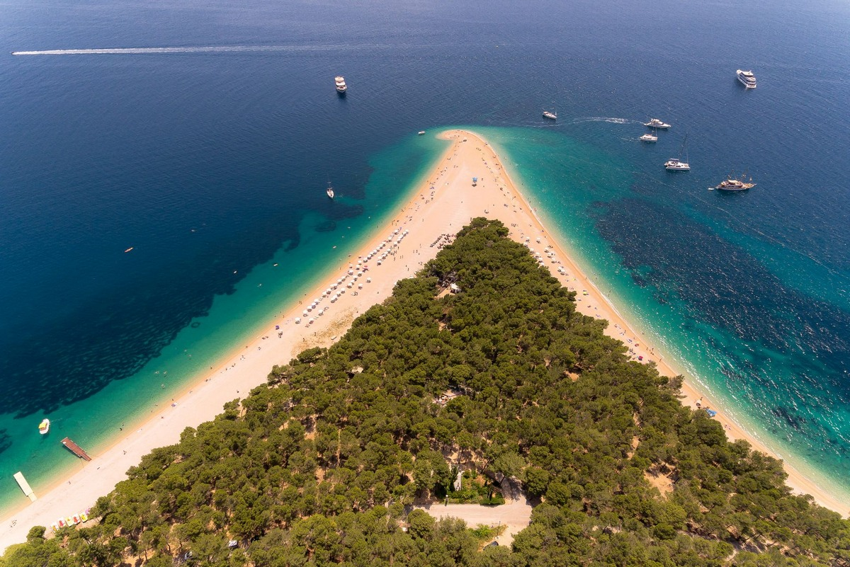 Golden Horn Beach in Bol on Brac Island in Croatia