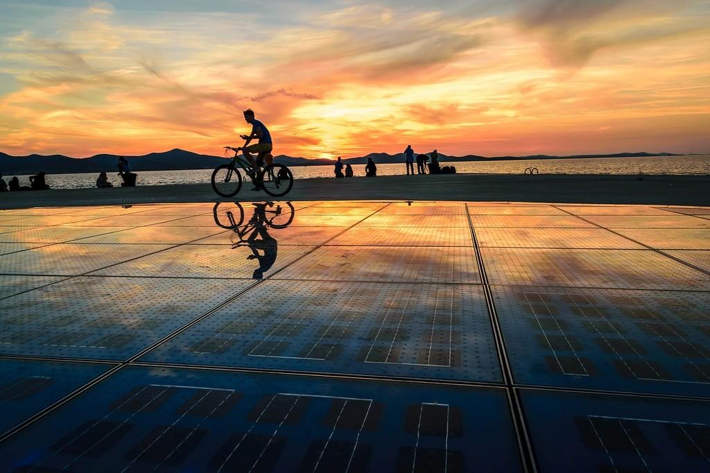 Gruß an die Sonne in Zadar Kroatien