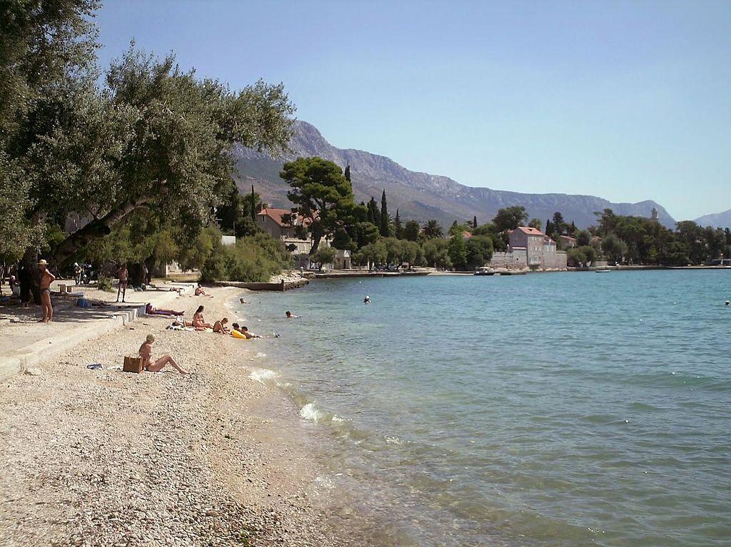 Beach in Kastel Luksic Croatia