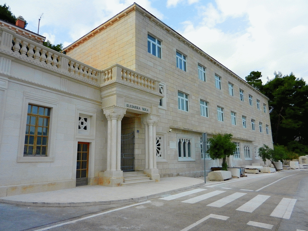 Stonemasonry school in Pucisca Brac Island