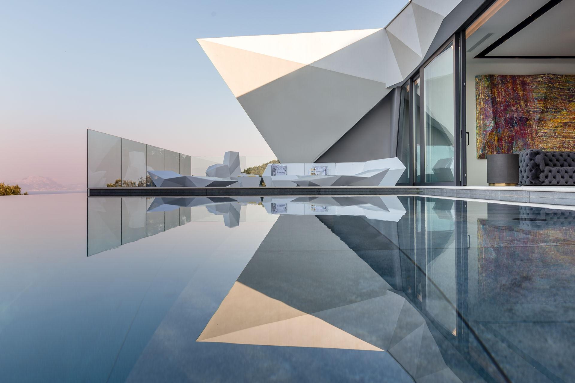 The first beautiful Pool in the Luxury Korcula Diamond Villa