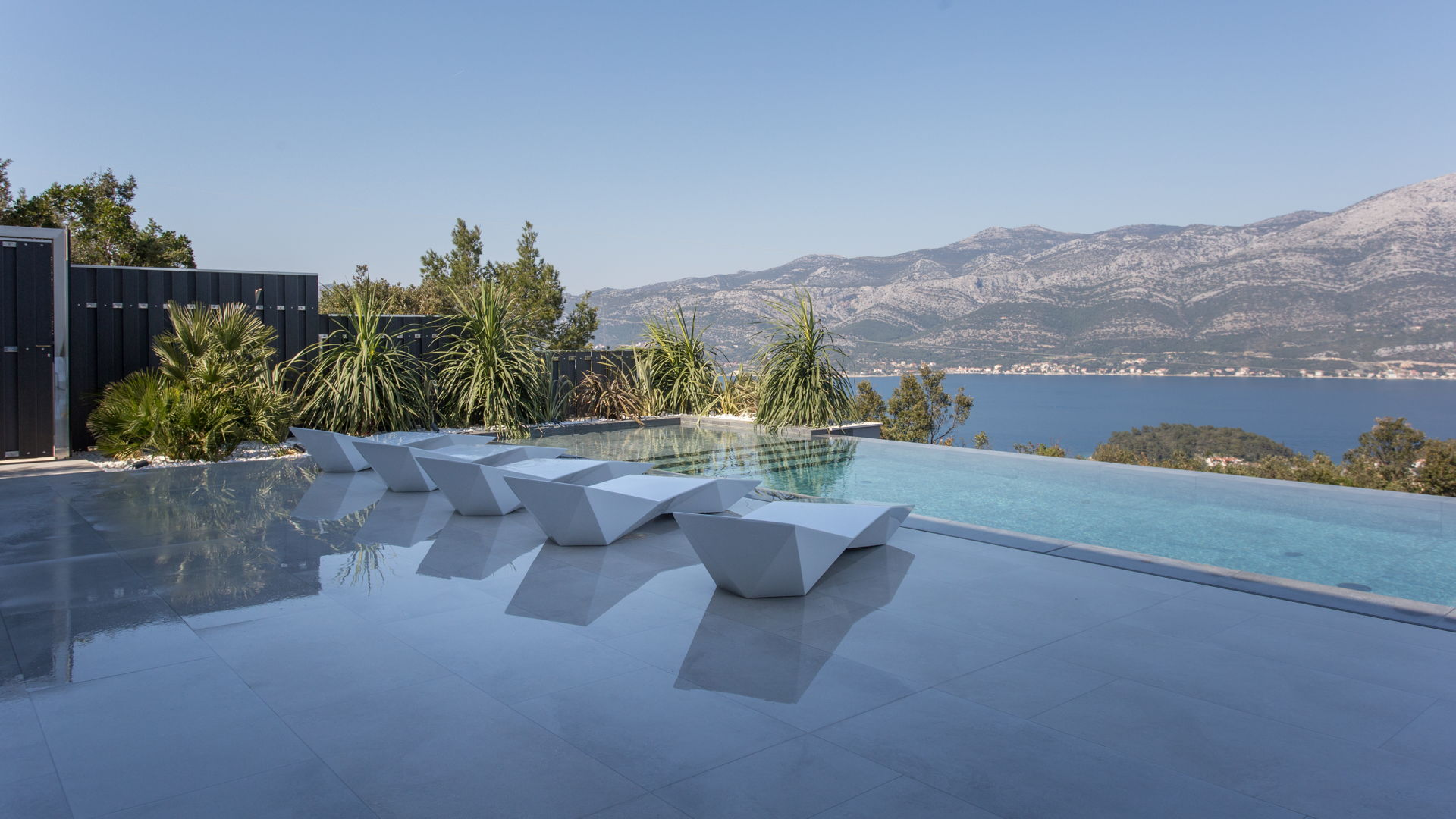 Views of the Ocean from one of the Infinity Pools at the Villa Korcula Diamond