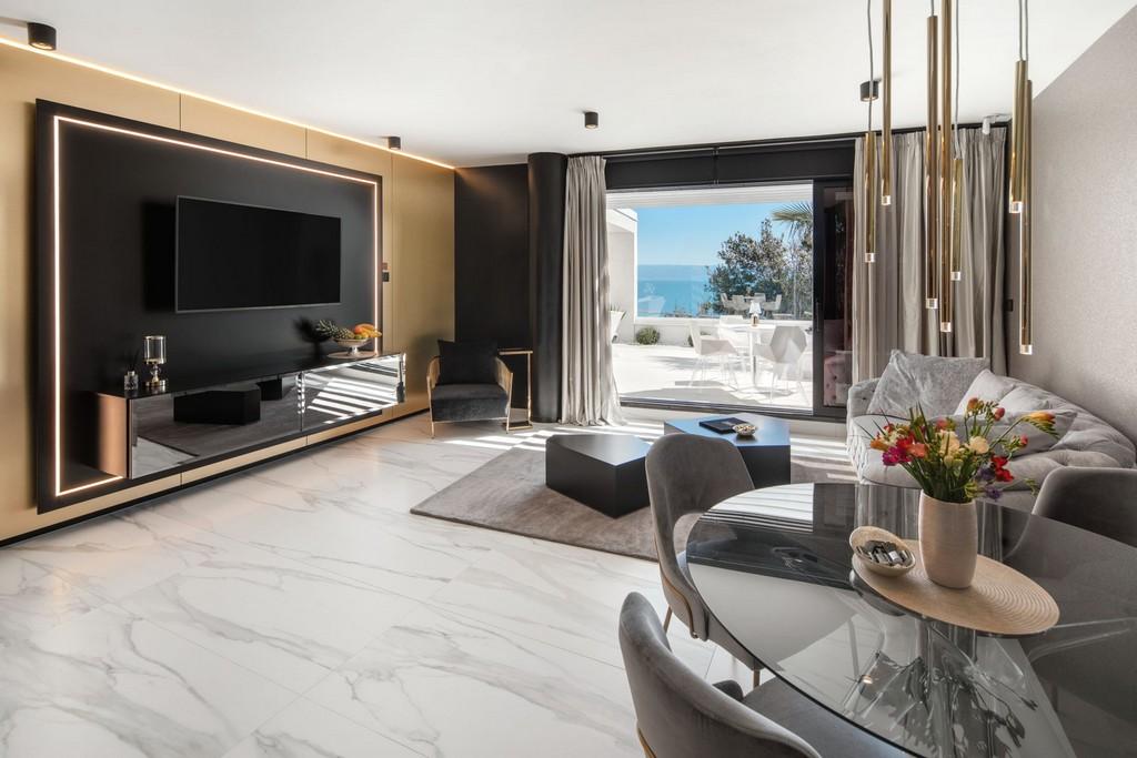 Living space of the Posh Residence in Split