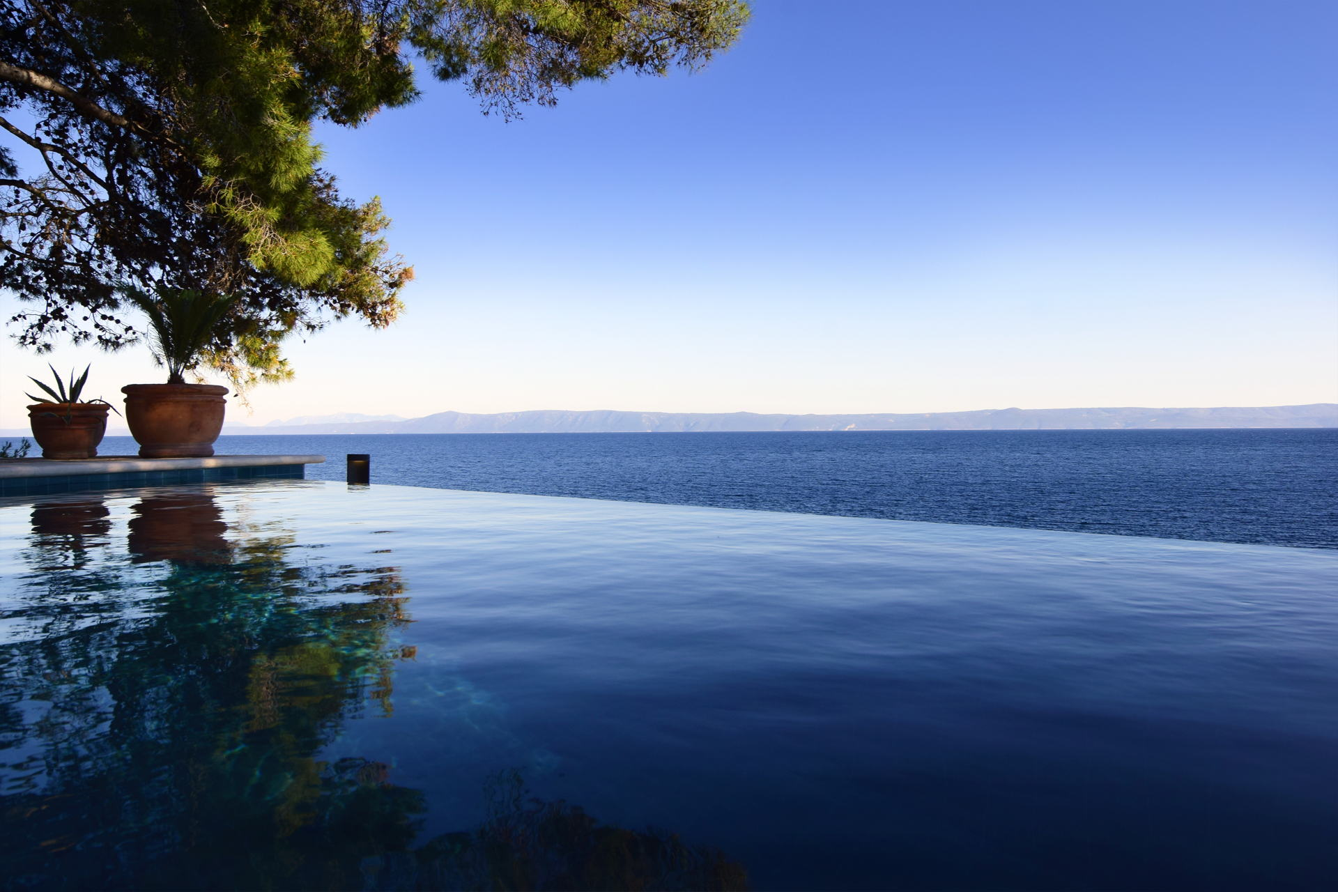 Beautiful sea view from the pool of the Villa Sounds of nature