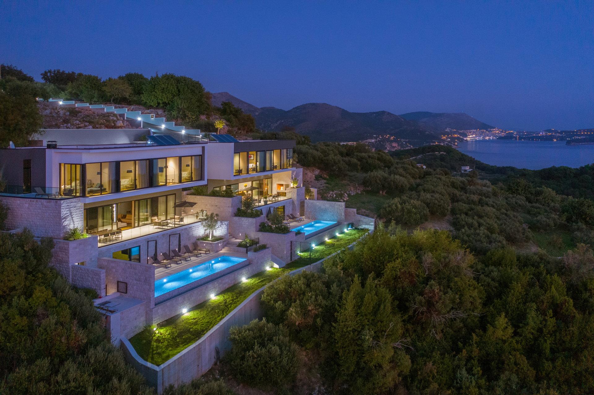 Large Luxury Villa for Rent in Croatia - 9 bedroom villa Dubrovnik Sisters with 2 infinty pools near Dubrovnik
