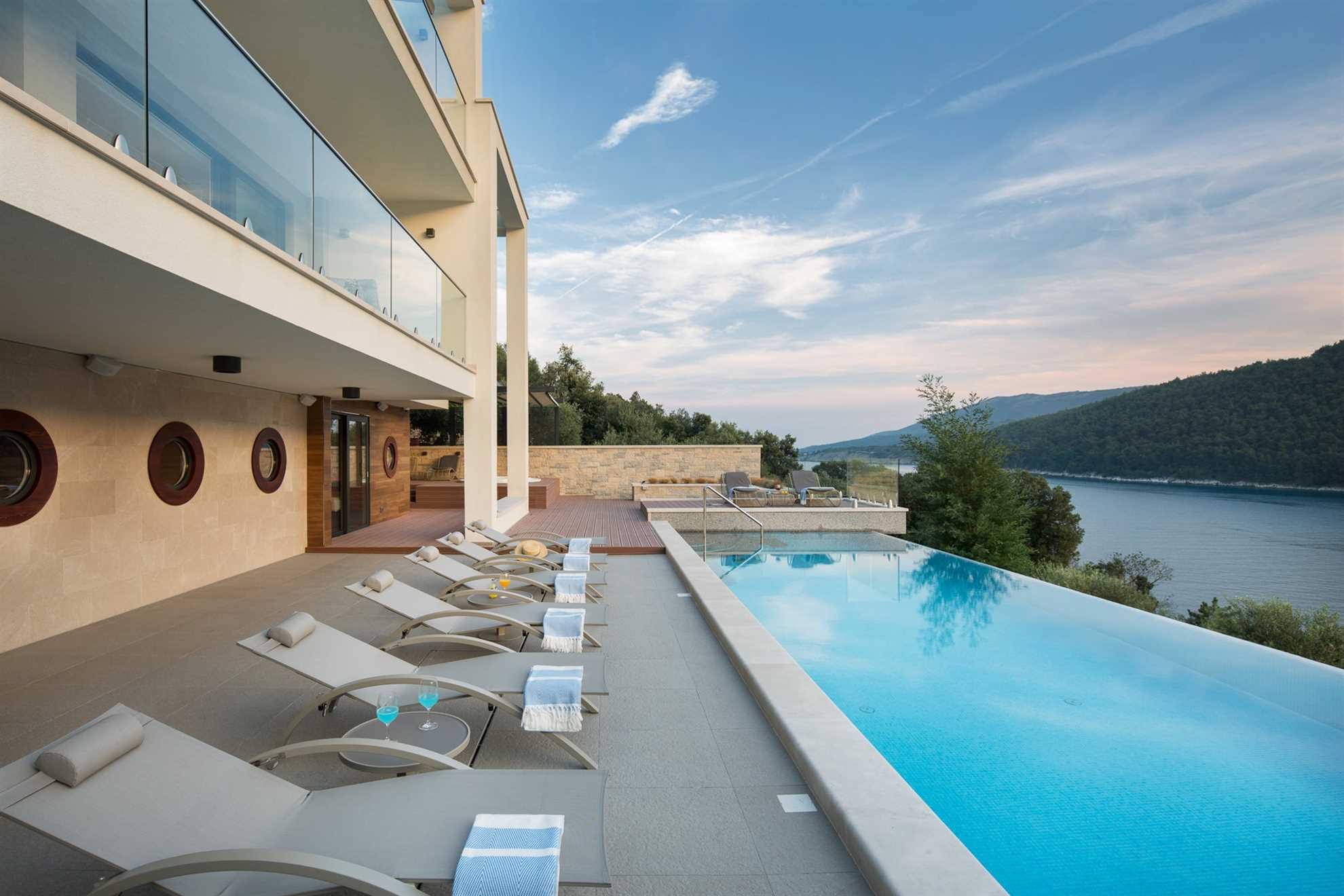 Luxury Villa Majestic with infinity pool in Rabac, Istria