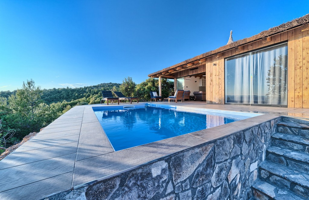 Luxury Bungalow with pool in the New Horizons Resort on Murter island in Croatia