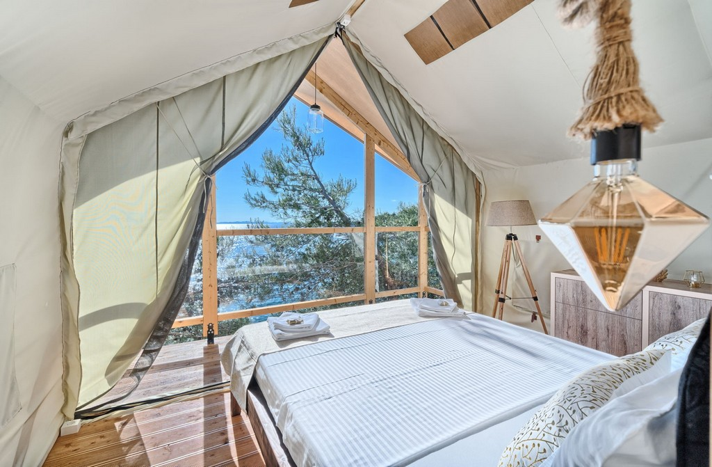 Sea View from the Luxury Tree House in the New Horizons Resort on the Island of Murter in Croatia