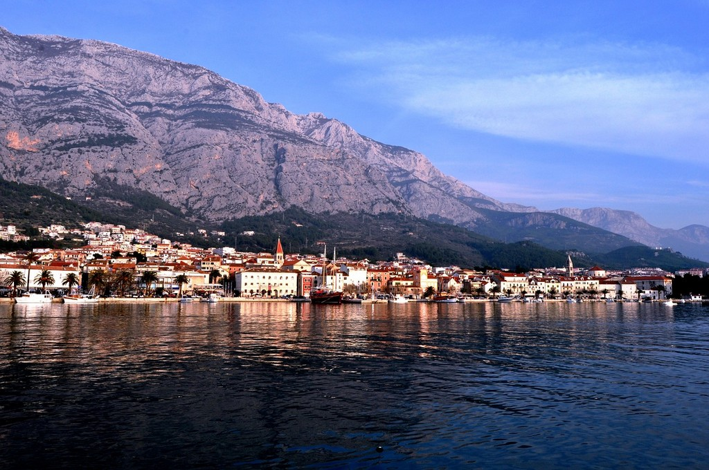 Makarska from the sea