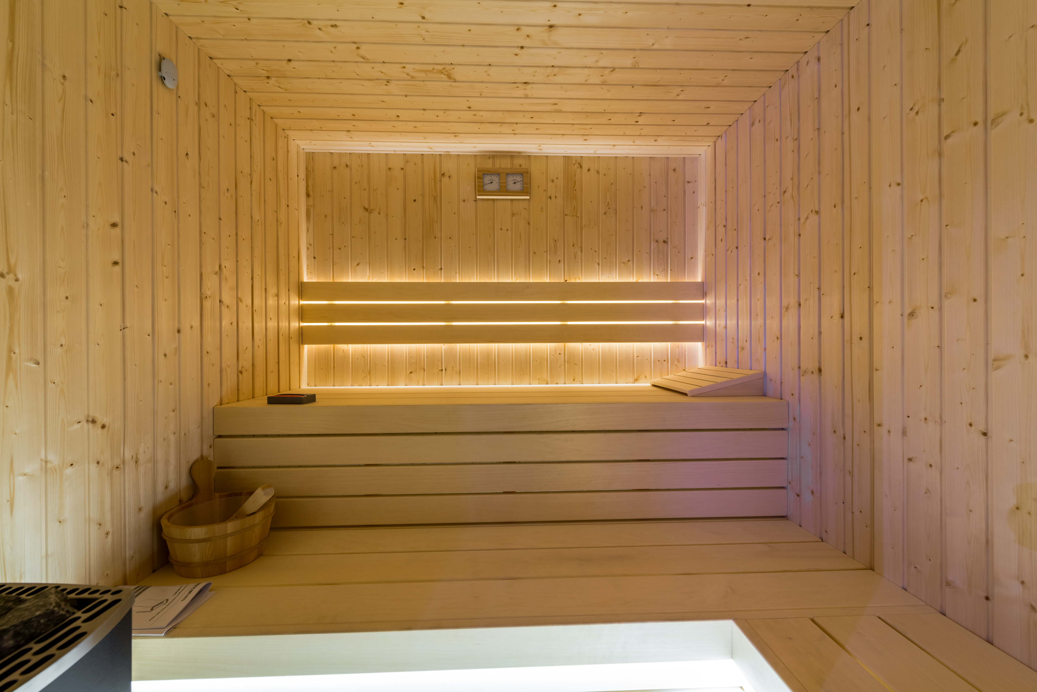 Relaxing sauna in the villa