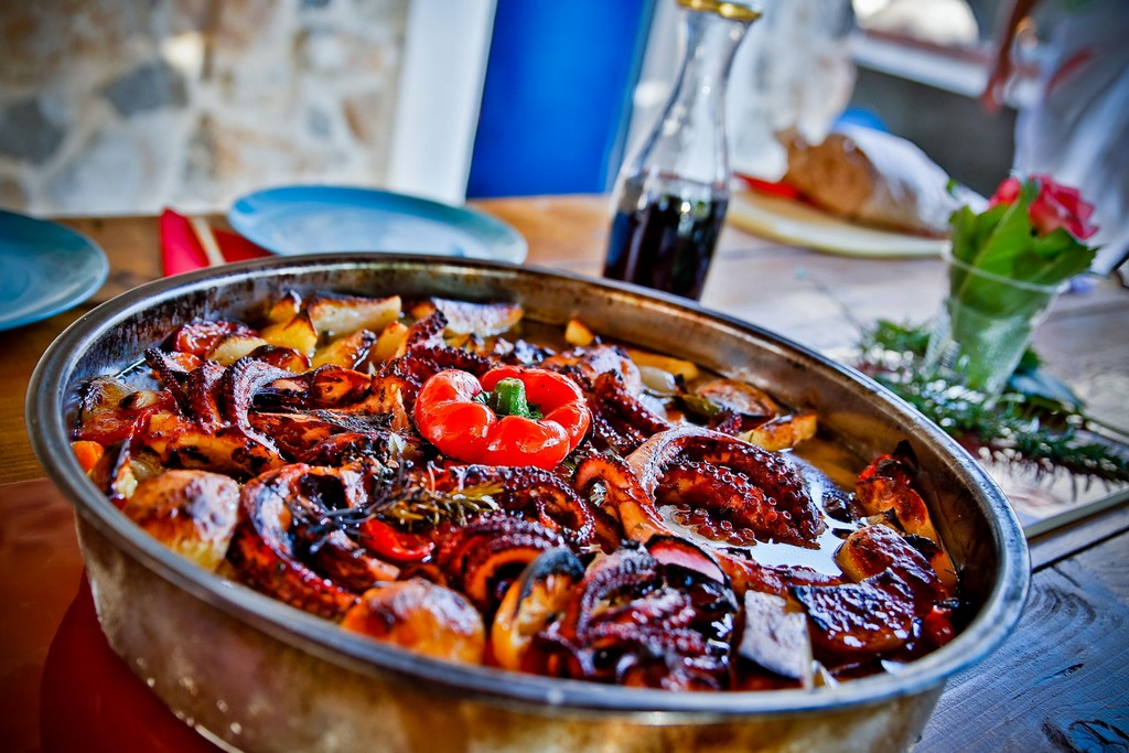 Octopus under the lid in Authentic food in Croatia