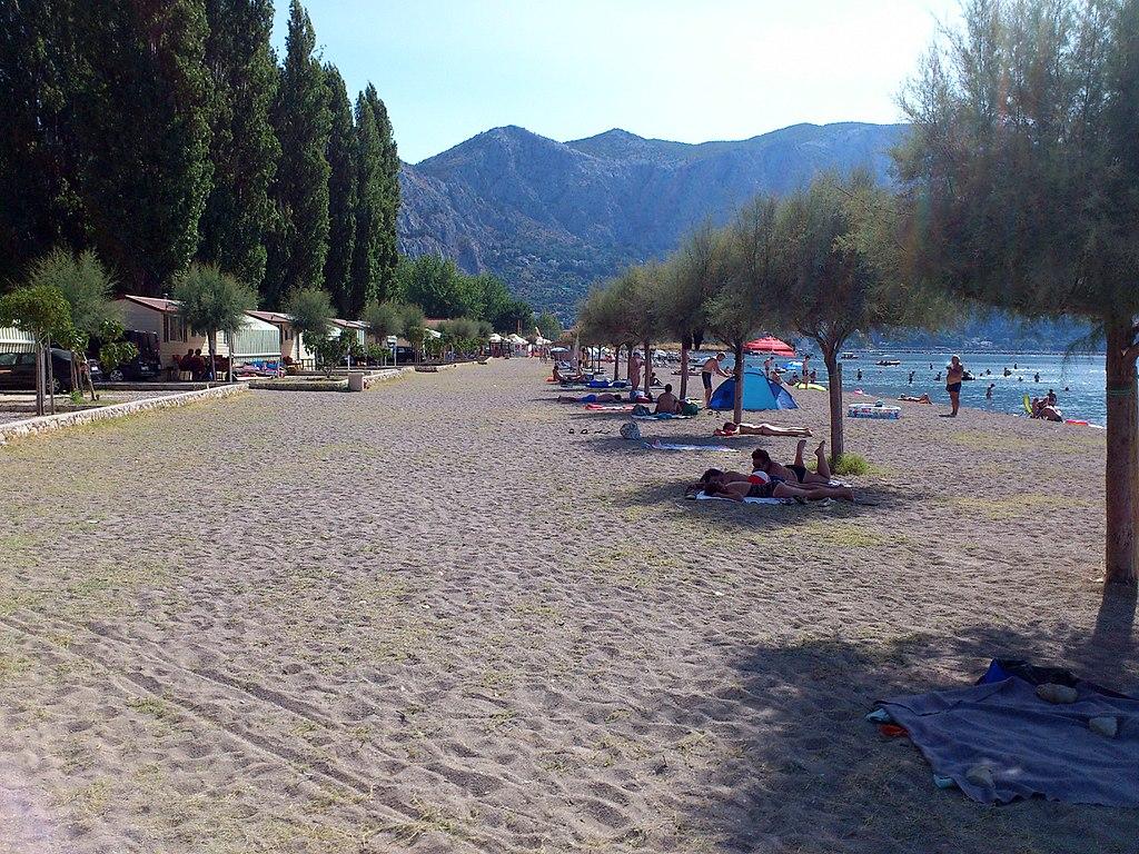 Beach in Omis Croatia
