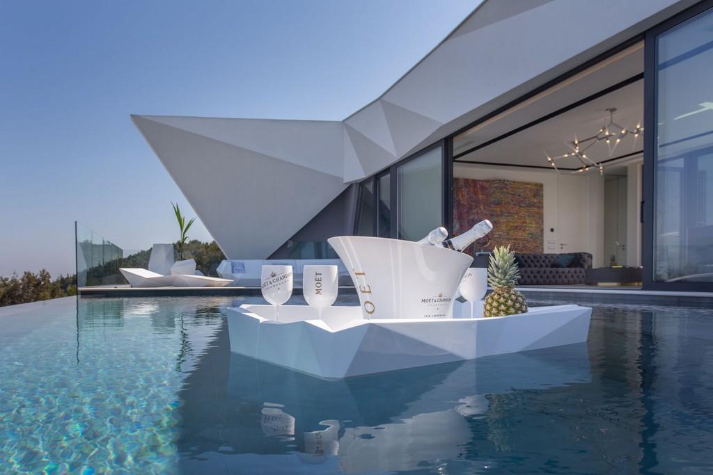 En av bassengene i Villa Korcula Diamond