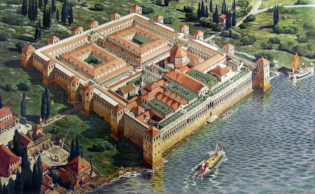 Palace of Diocletian in Split in the past