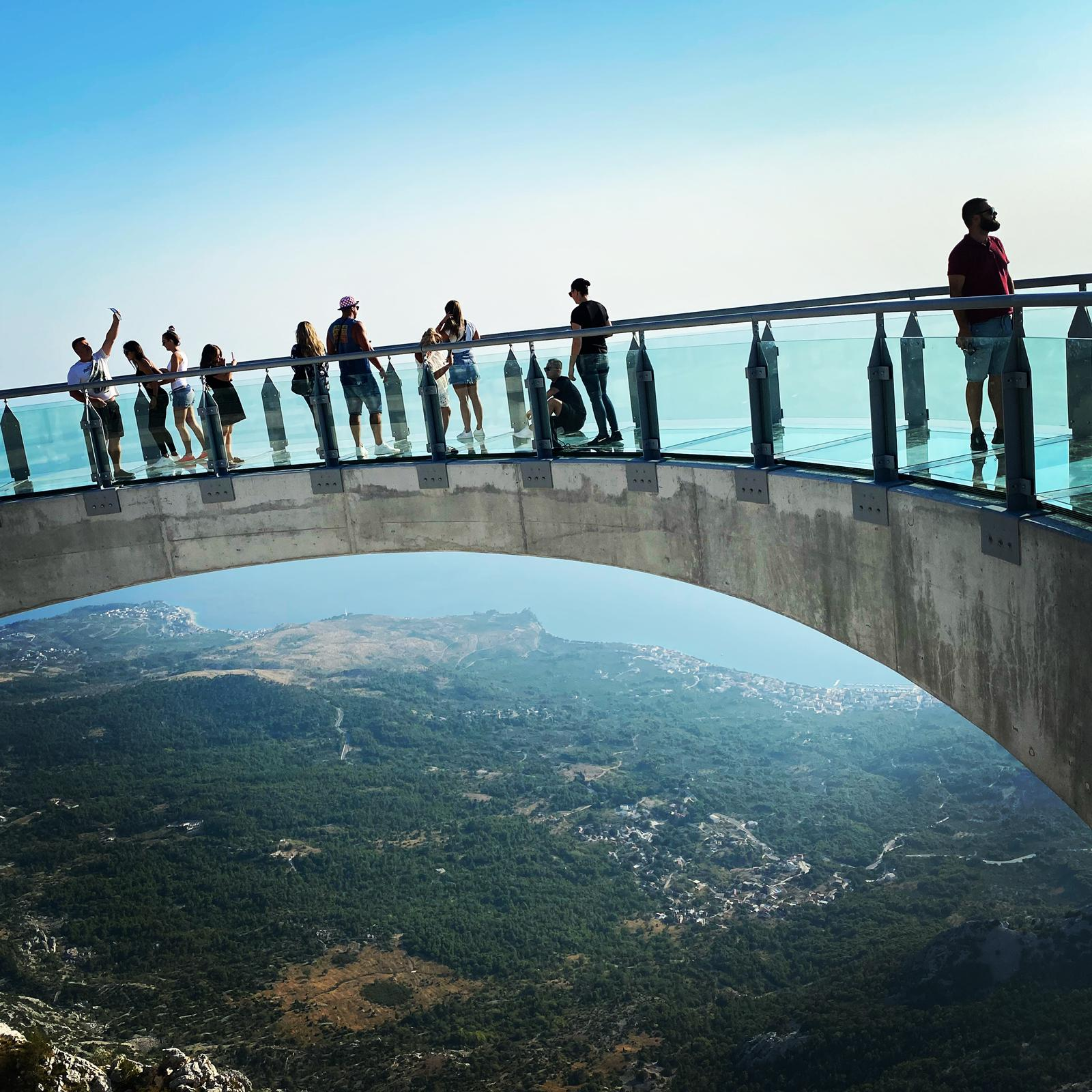 People enjoying the view from the Skywalk