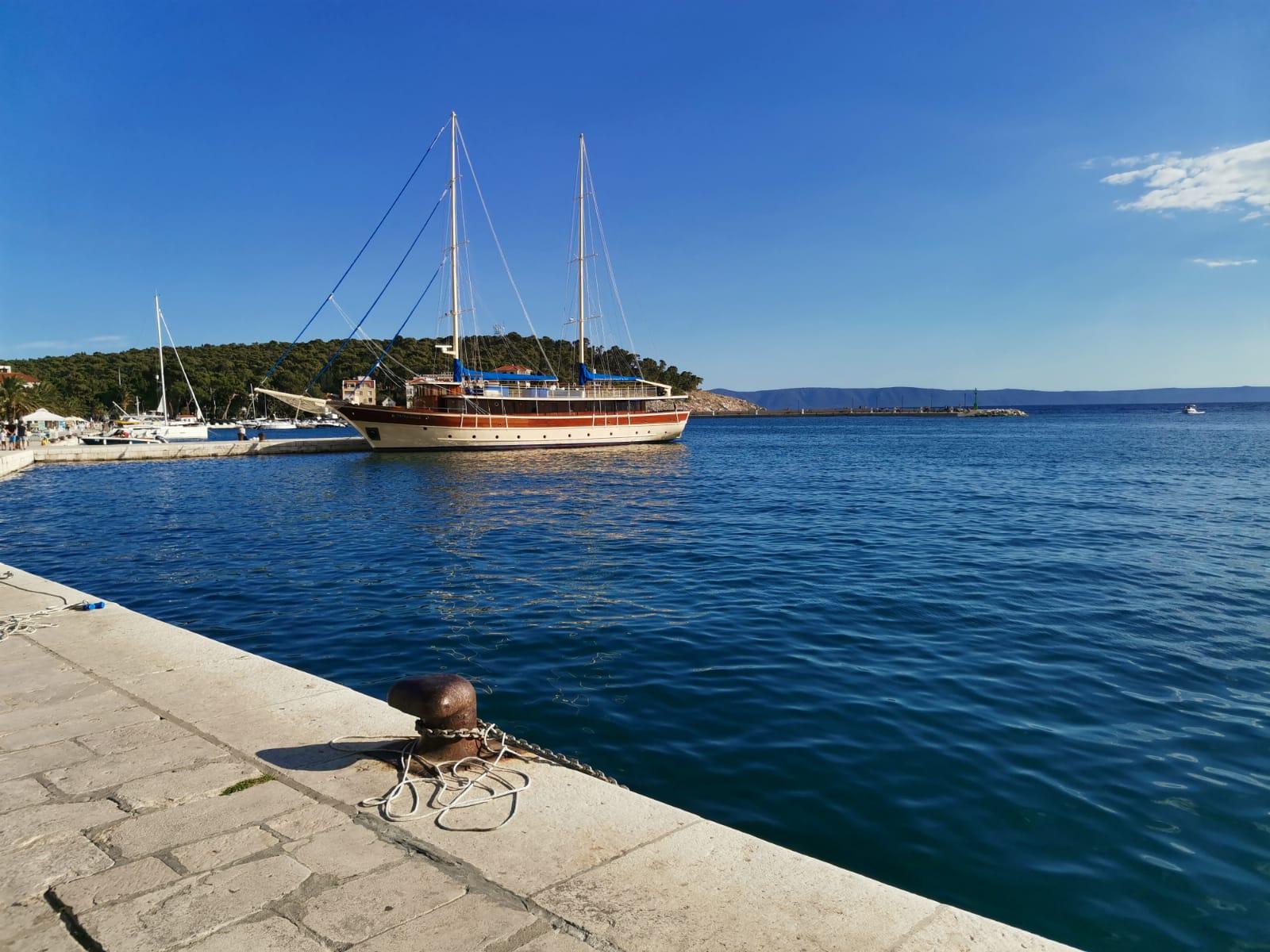 Sailing boat on Makarska Riviera