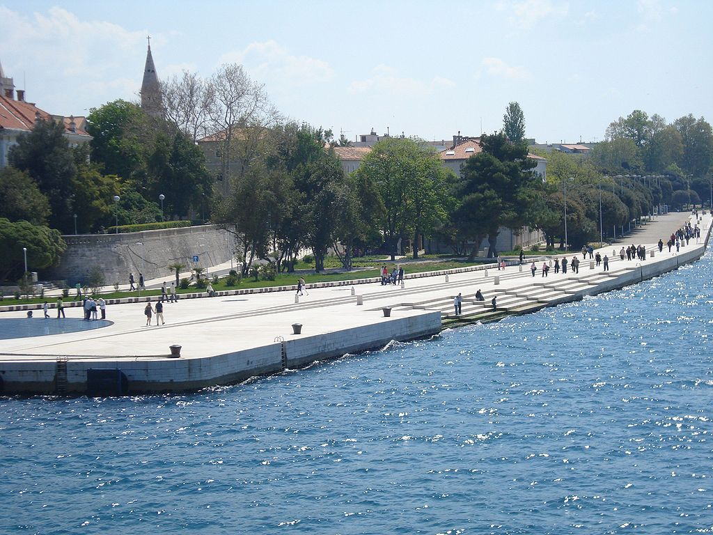 Meeresorgel in Zadar Kroatien