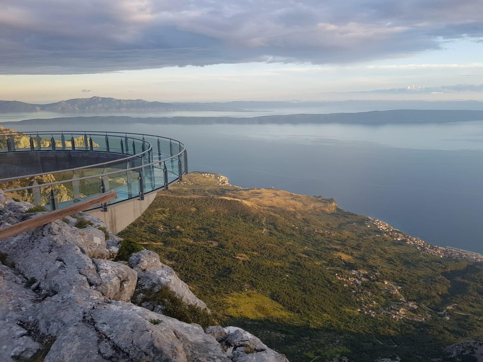 View of the Makarska Riviera from the Skywalk