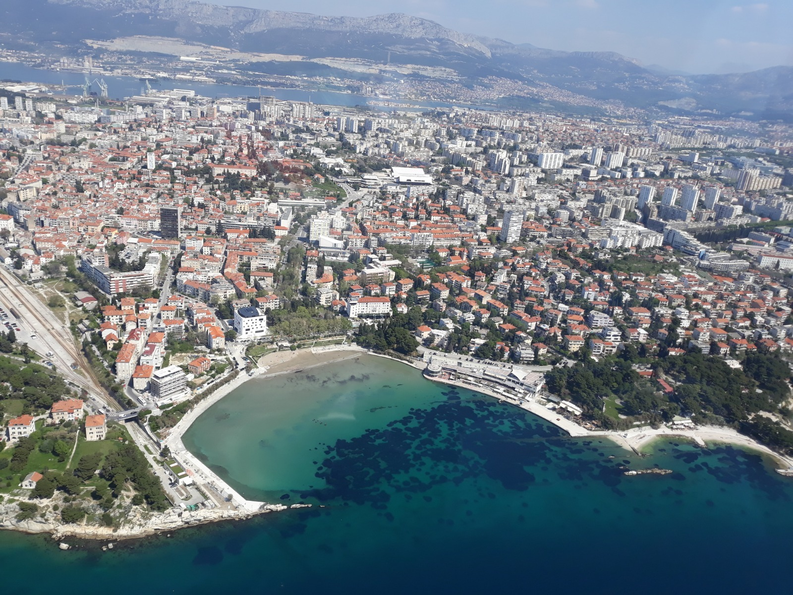 Split, Croatia view from above