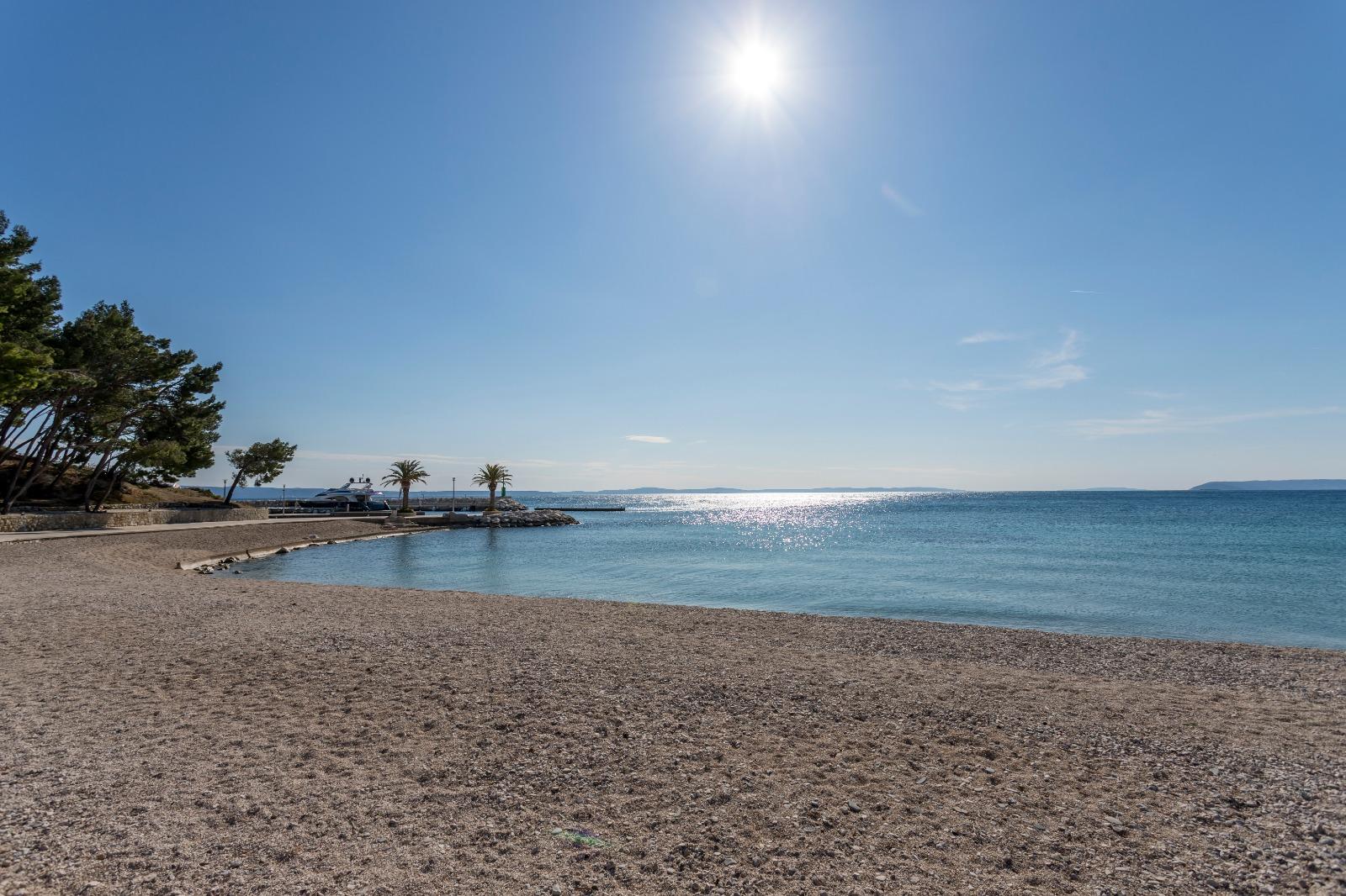 Pebble beach near Split