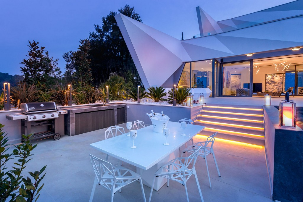 Summer terrace in front of Villa Korcula Diamond