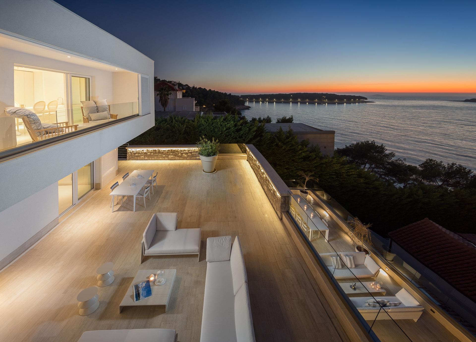 Sunset view from Villa Dance Forever Primosten