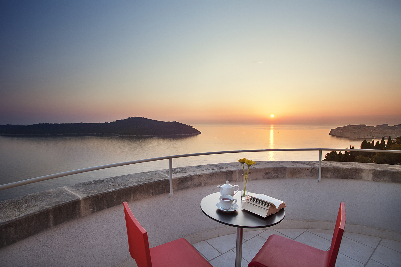 Sunset view from Luxury Residence Queen of Dubrovnik