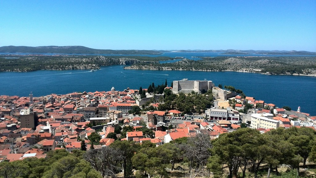 Town of Sibenik with the Fortress of Saint Michael