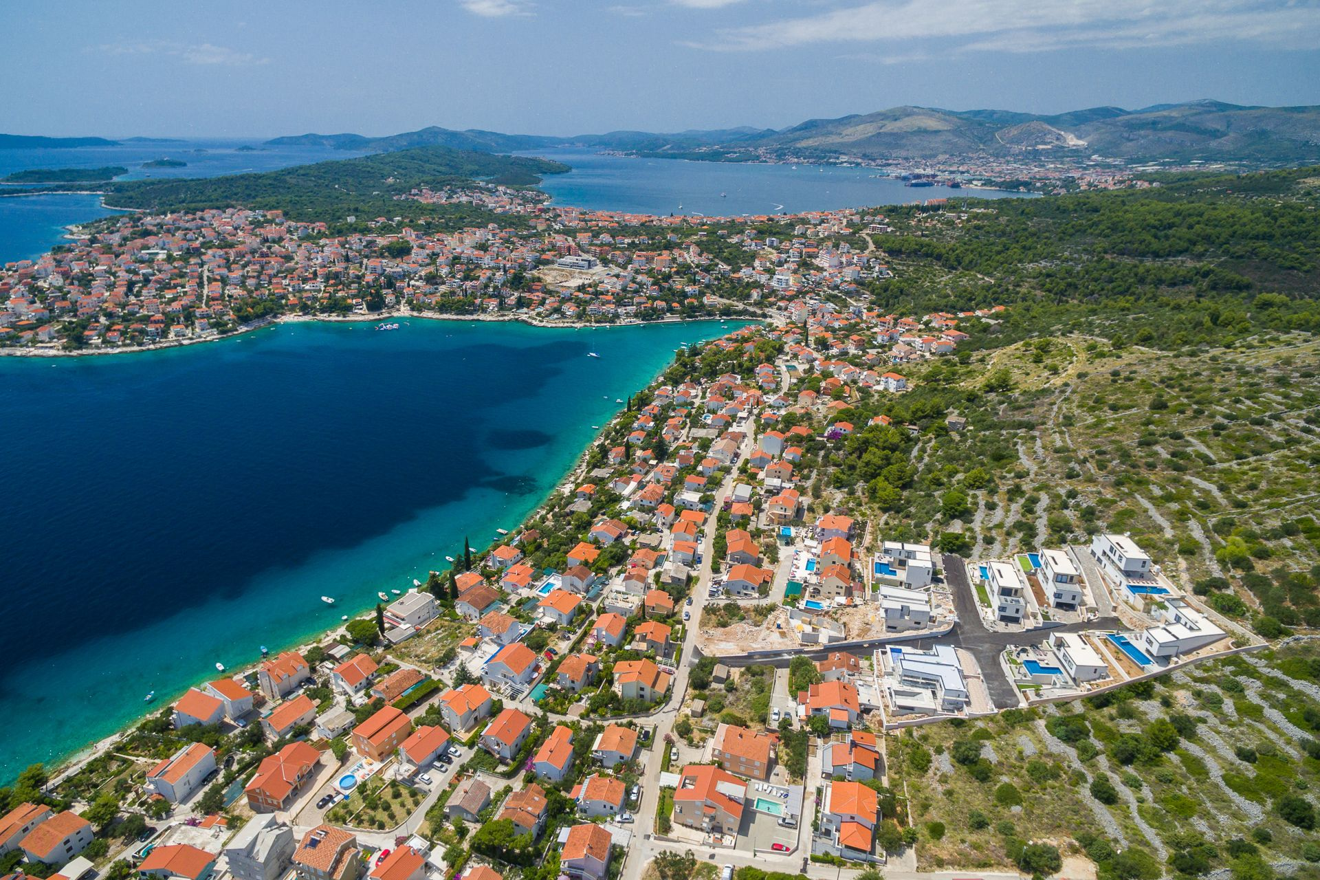 Trogir Pearl Villas View from the air of the area