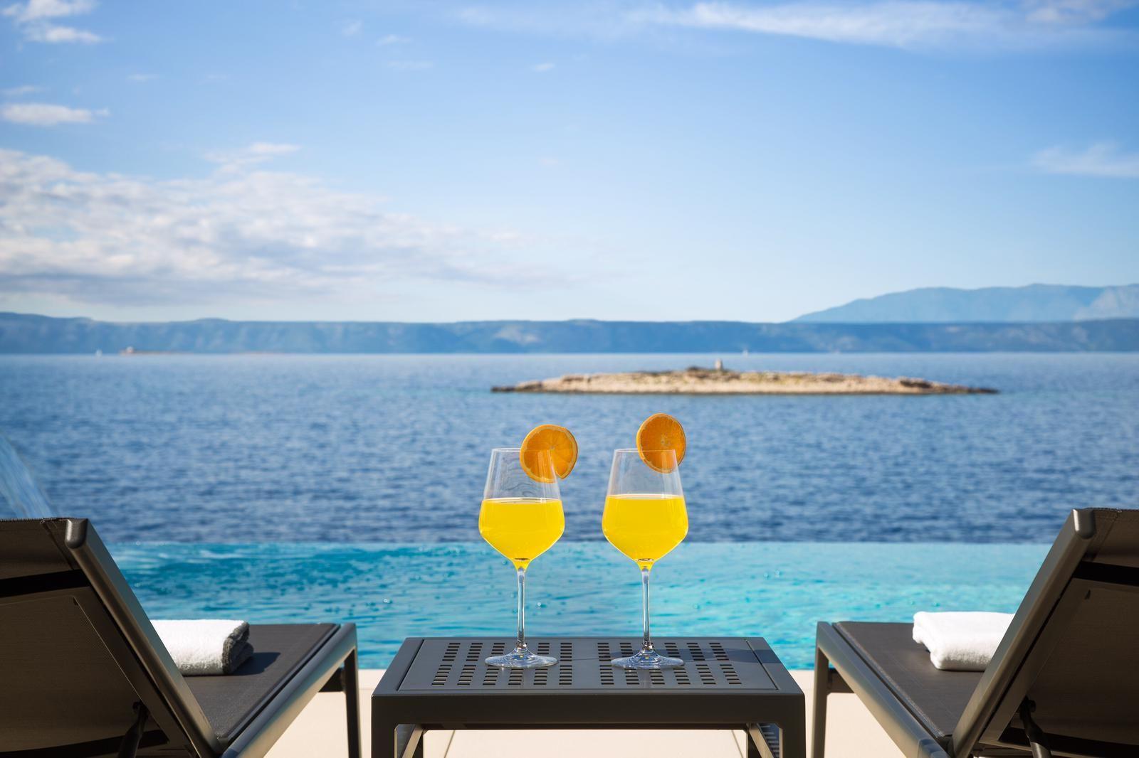 View from the Luxury Villa Palma de Korkyra Pool on Korcula Island