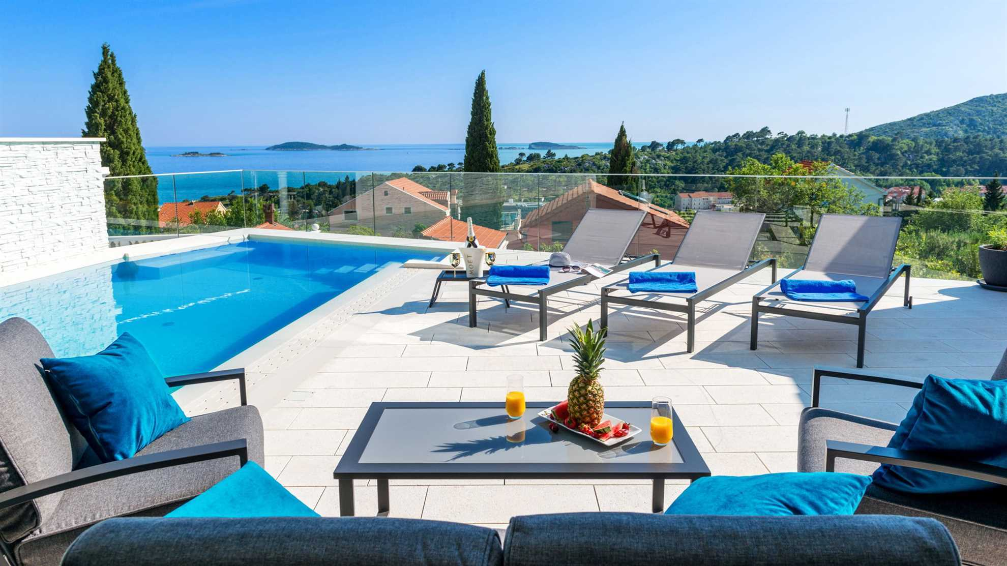 The view from Luxury Villa Elysian